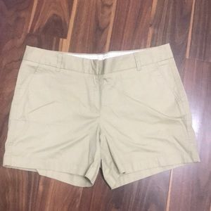 J.Crew Khaki Chino Shorts size 12